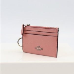 Coach Pink Mini Wallet Card Case